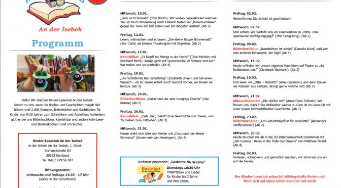 Kinder-Leseclub Programm Januar – März 2018